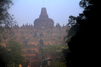 Early morning, Borobodur, Central Java.