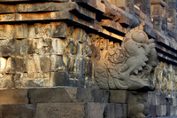 The whole temple is full of elaborate stone carvings.