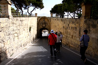 Entering the old city of Mdina through the Greek's  Gate.