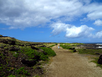 The long walk out to Ka'ena Point....
