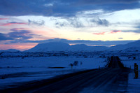 The evening landscape...driving to L. Myvatn